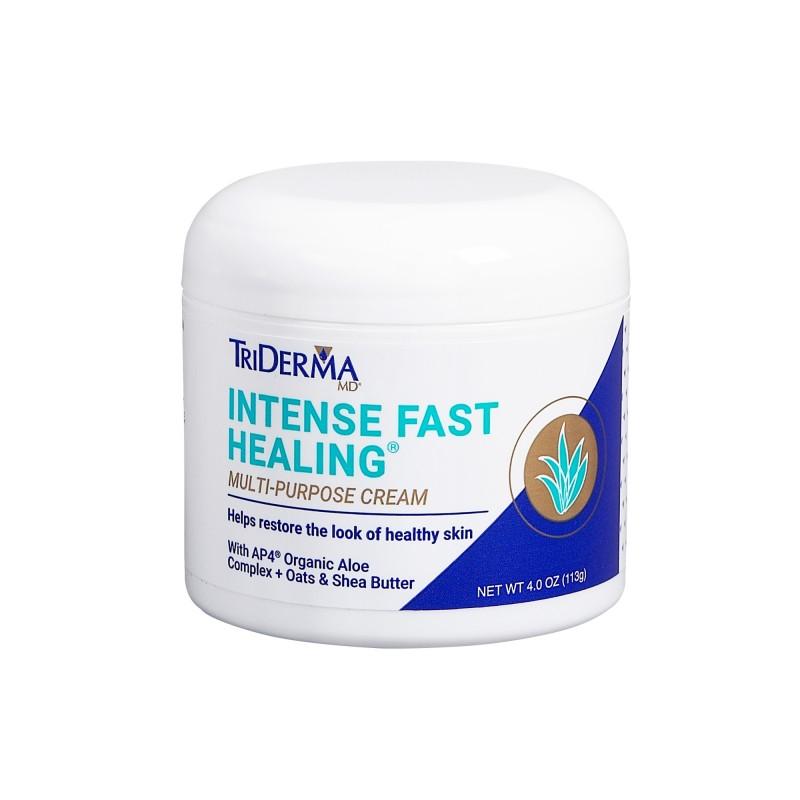 TriDerma Intense Fast Healing Multi-Purpose Cream (4 oz tube) Triderma Facial Cleanser 6.2 oz, 8 Pack